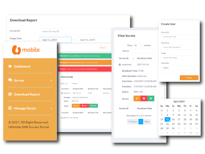 UMobile SMS Campaign System Dashboard